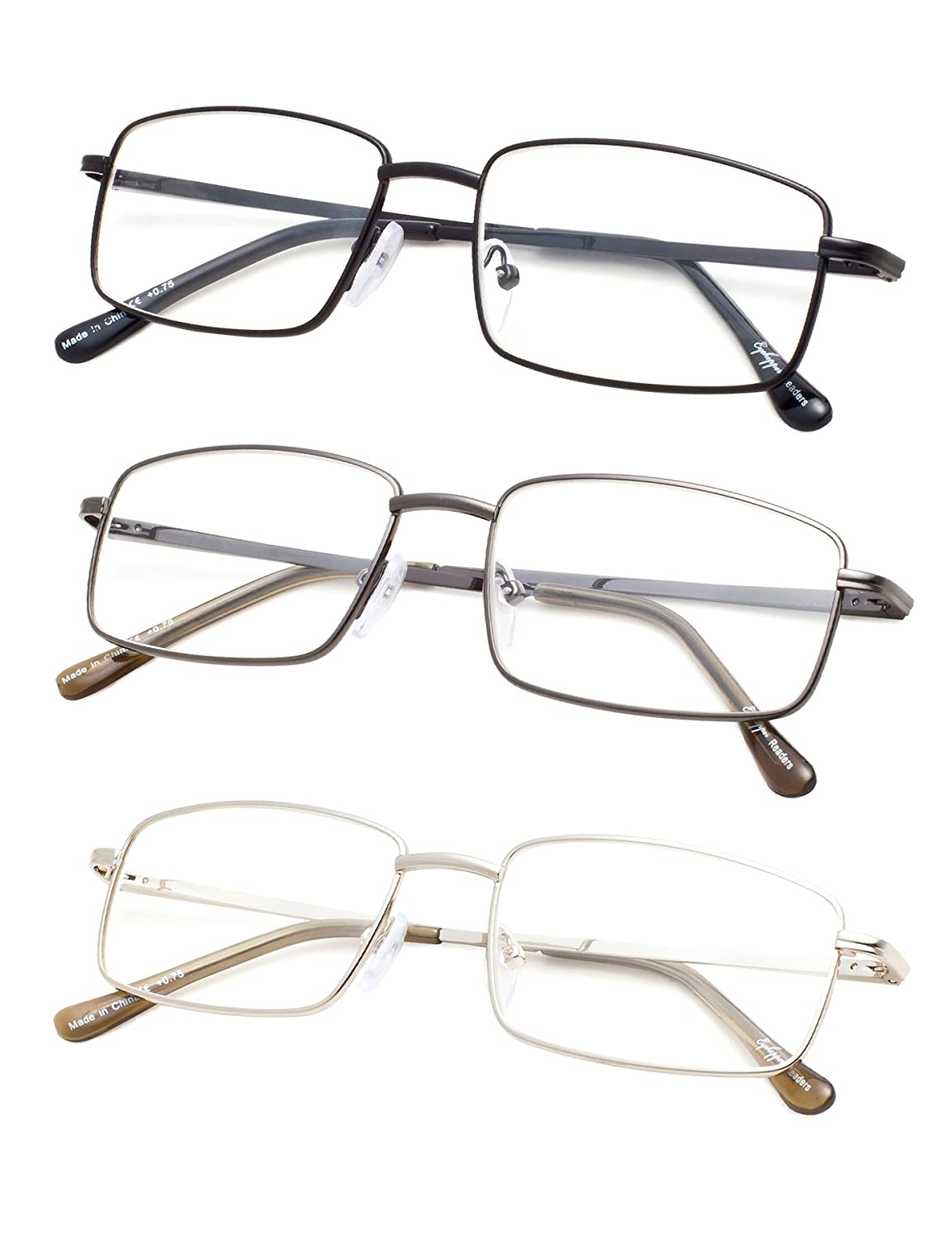 184aa541da71 metal frame plastic lens non-polarized. Lens width  53 millimeters 3 pack  at 1 low price spring temple reading glasses. Reading glasses for men at  most of ...