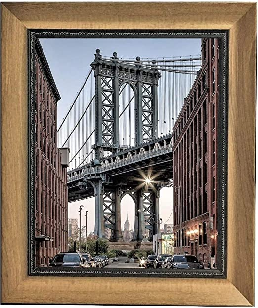 White Pack of 2 Harmony Frames 8x10 Wood Design Picture Frame Wall Mounting and Table Gallery Display