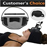 LuBaRi Hammock for Neck | Neck Hammock Stretcher Cervical Traction Support Brace Relaxion Massager Great for Neck Pain Relief + EYE MASK BONUS