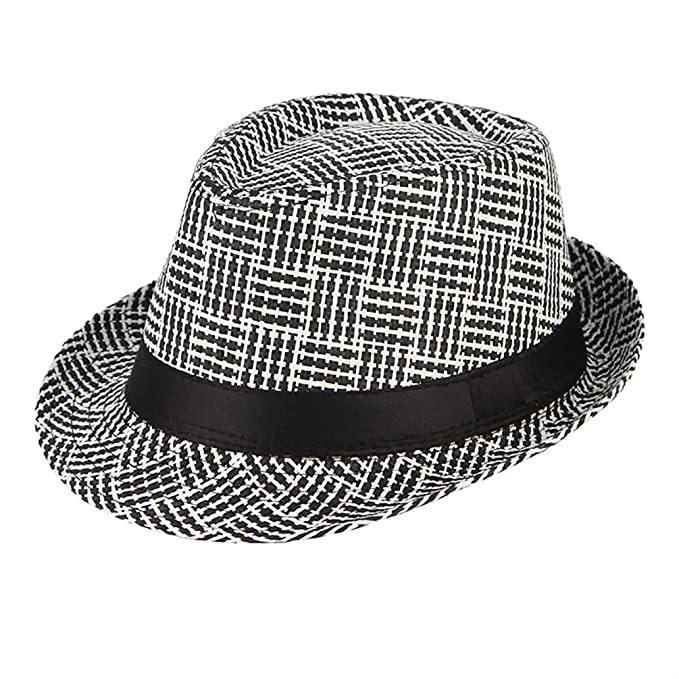 Mens Summer Straw Hats Beach Handmade Weaved Jazz Vintage Sun Cap at Amazon  Men s Clothing store  65a14fbf95f