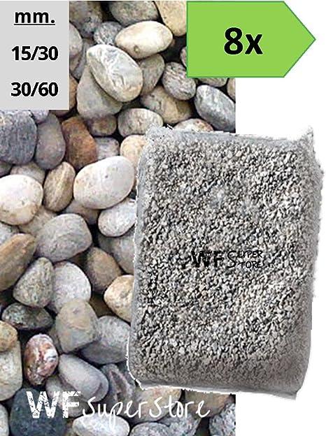 Piedras de Torrente – 8 bolsas de 25 kg – Guijarros Río Piedras Jardín: Amazon.es: Hogar