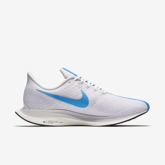 Amazon.com | NIKE Mens Air Zoom Pegasus 35 Turbo Running Shoes (7.5, White/Blue) | Shoes