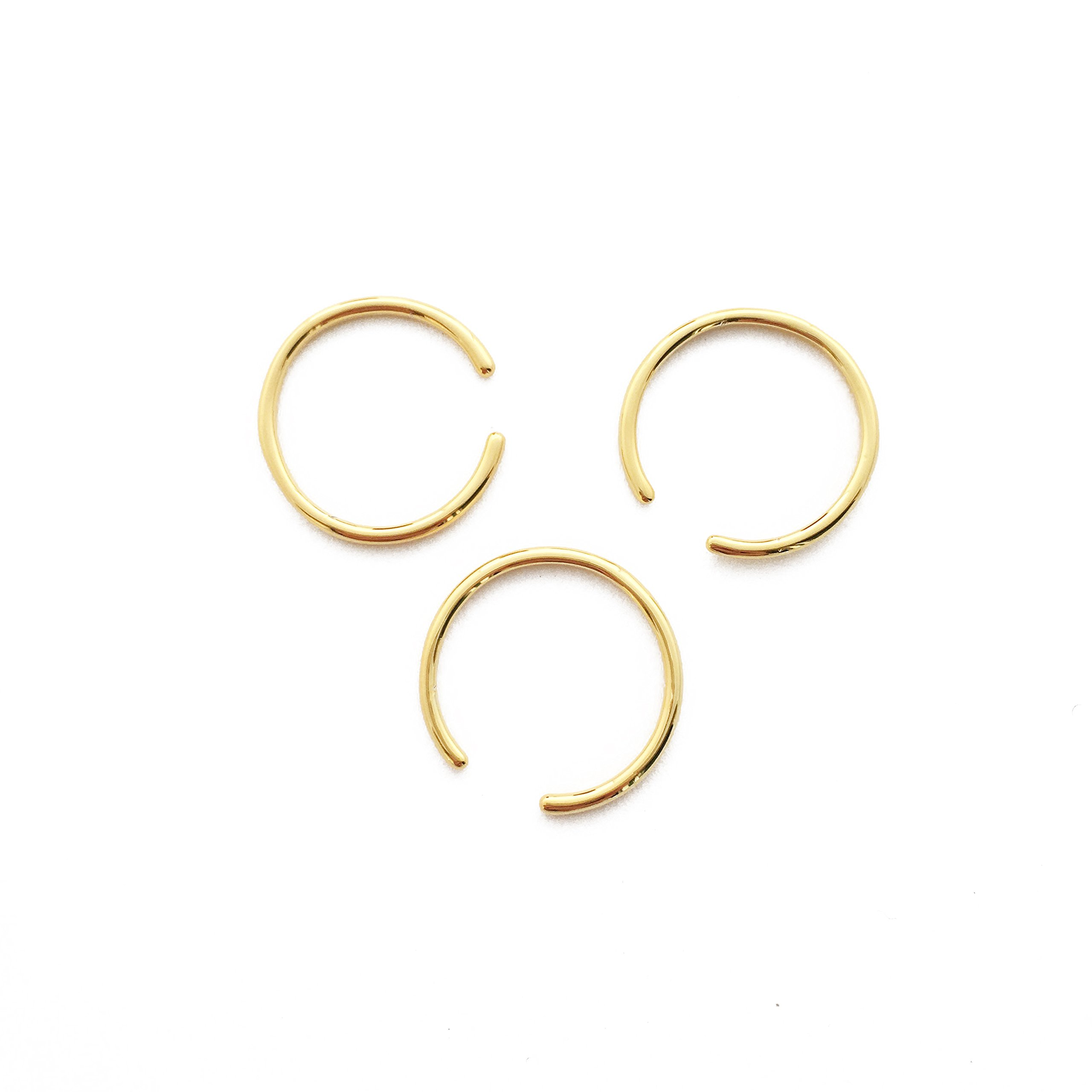 HONEYCAT Open Adjustable Stacking Rings Trio Set in 24k Gold Plate, 18k Rose Gold Plate Sterling Silver Plate | Madewell, Minimalist, Delicate Jewelry (Gold)