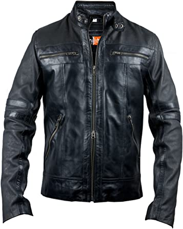 Bikers Style Original Leather Jacket Glossy Finish Lambskin for Sale On