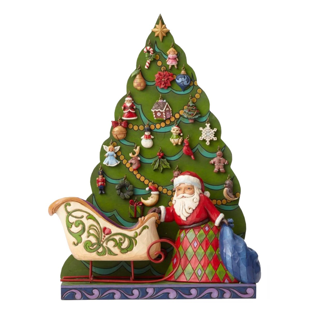 Enesco Hearwood Creek by Jim Shore HWC Multicoloured PVC Father Christmas Advent Calendar, 19 x 25 x 30 cm by Enesco (Image #1)