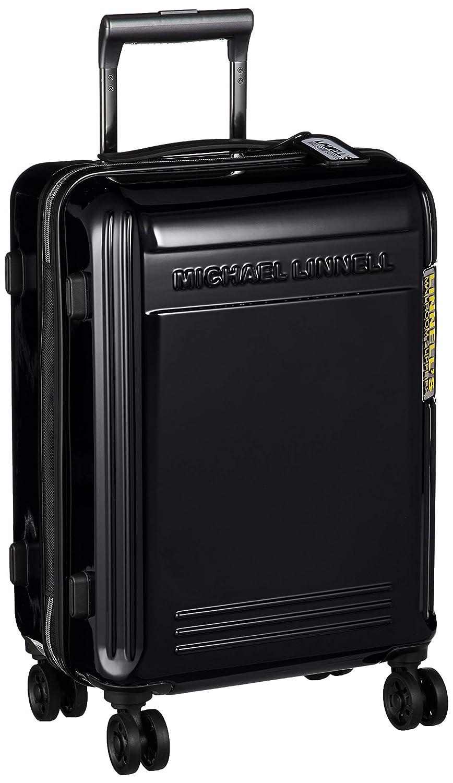 [マイケル リンネル] スーツケース 超軽量双輪 エンボスロゴ 機内持ち込み最大サイズ TSAロック 機内持ち込み可 37L 47 cm 3kg B07PW6W7MJ ブラック