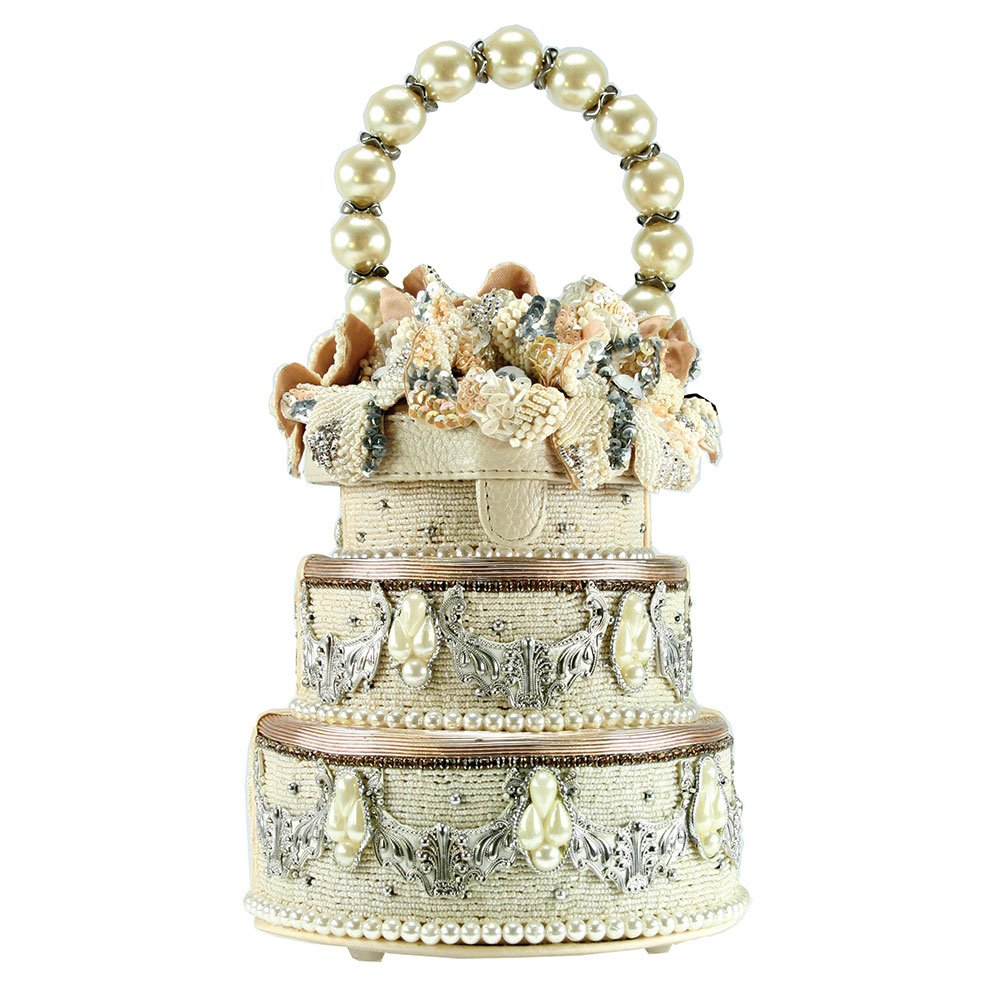 MARY FRANCES I Do Beaded Jeweled Pearl Elements Wedding Cake Bridal 3D Flowers