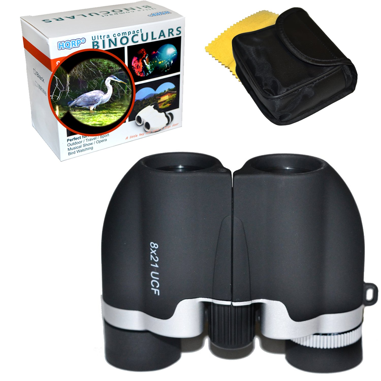 HQRPブラック超コンパクト双眼鏡8 x 21 UCF for Bird Watching、Wildlife監視、自然観察、ハンティング、キャンプ、Porroプリズム320 ft / 1000 yds B01BMMXWNQ