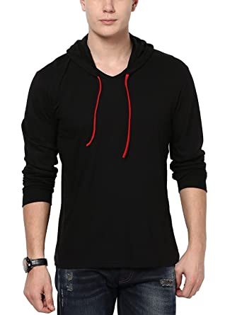 5126e1013 STYLE SHELL Men's Cotton Hooded Full Sleeve T-Shirt: Amazon.in: Clothing &  Accessories
