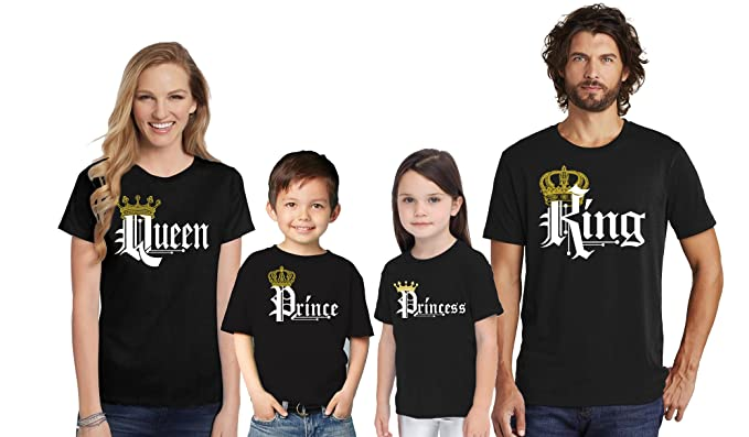 5c0564ad07 Amazon.com: King Queen Prince Princess T-Shirts -Matching Family Cruise  Shirts - His and Her T-Shirts - Family Shirts: Clothing