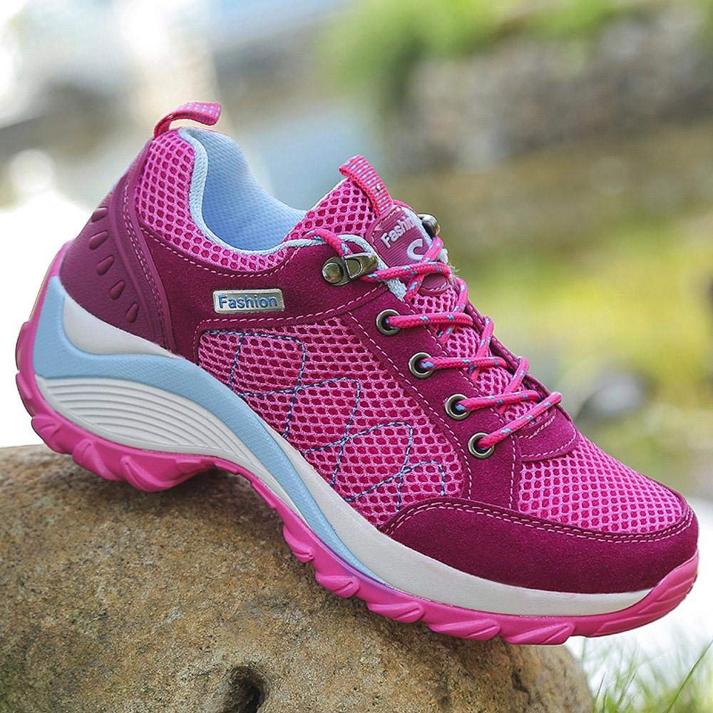 a6c75b500d8d2 Logobeing Zapatillas Deportivas Mujer Running Alpinismo Zapatos Seguridad  Mujer Comodos Zapatos Mujer Tacon Cordones Casuales Sneakers