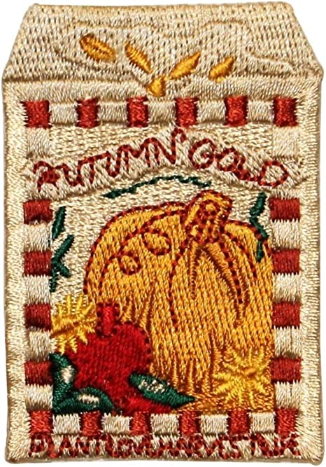 Halloween,Fall Pumpkin Embroidery Iron On Applique Patch