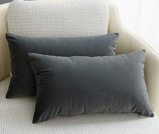 Plush Velvet Pillow Stuffed Insert Sofa Cushion Filler Case Cover Car Sofa Throw