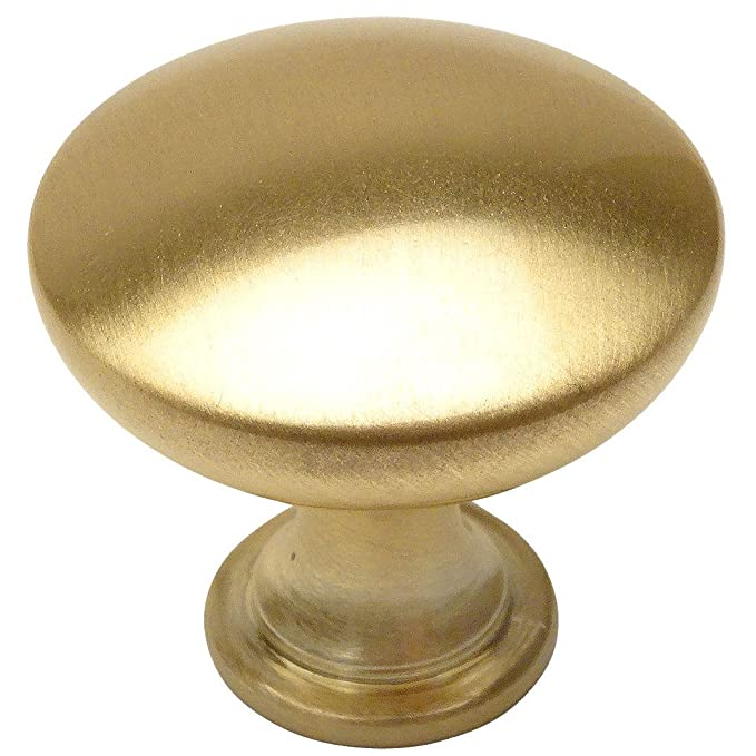 25 Pack - Cosmas 5305BB Brushed Brass Traditional Round Solid Cabinet Hardware Knob - 1-1/4
