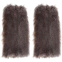 Chinatera Women Sexy Short Long Leg Warmers Faux Fox Fur Boot Socks Winter Warm Leg Cover