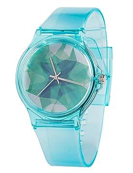 Tonnier Relojes Banda de Resina Super Suave Estudiante Relojes para los Adolescentes Chicas jóvenes Estrellada, Ice Crack: Amazon.es: Deportes y aire libre