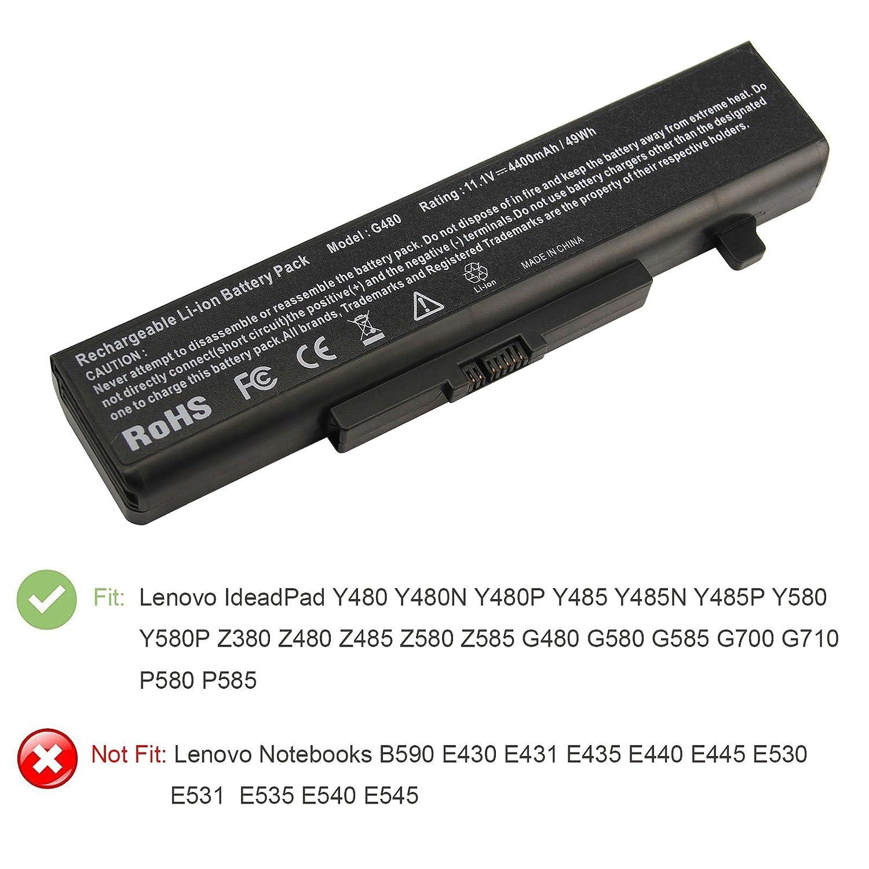 ASUNCELL Batteria del computer portatile per Lenovo ThinkPad Series IdeaPad G480 G585 Y480 Y485 Y580 Z380 Z580 Y580 Y580N G485 G580 Y480N Y485N Y580N Z480 Z585 Y580P Y480P Y485P Y580P Z485