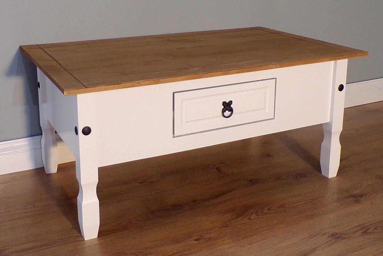 Mercers Furniture Trade Corona White Painted Coffee Table Light