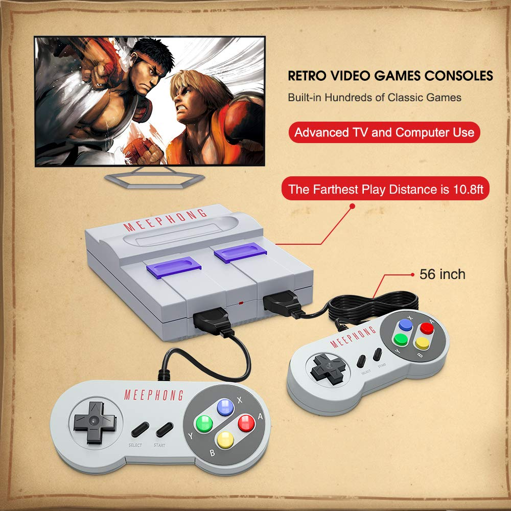 MEEPHONG Retro Game Console, HDMI HD Built-in 821 Classic Video Games by MEEPHONG (Image #5)