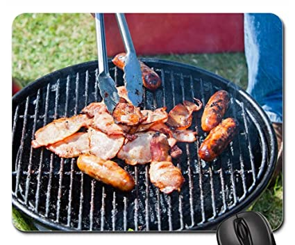 Amazoncom Mouse Pads Bbq Grill Camping Barbecue Food Cooking