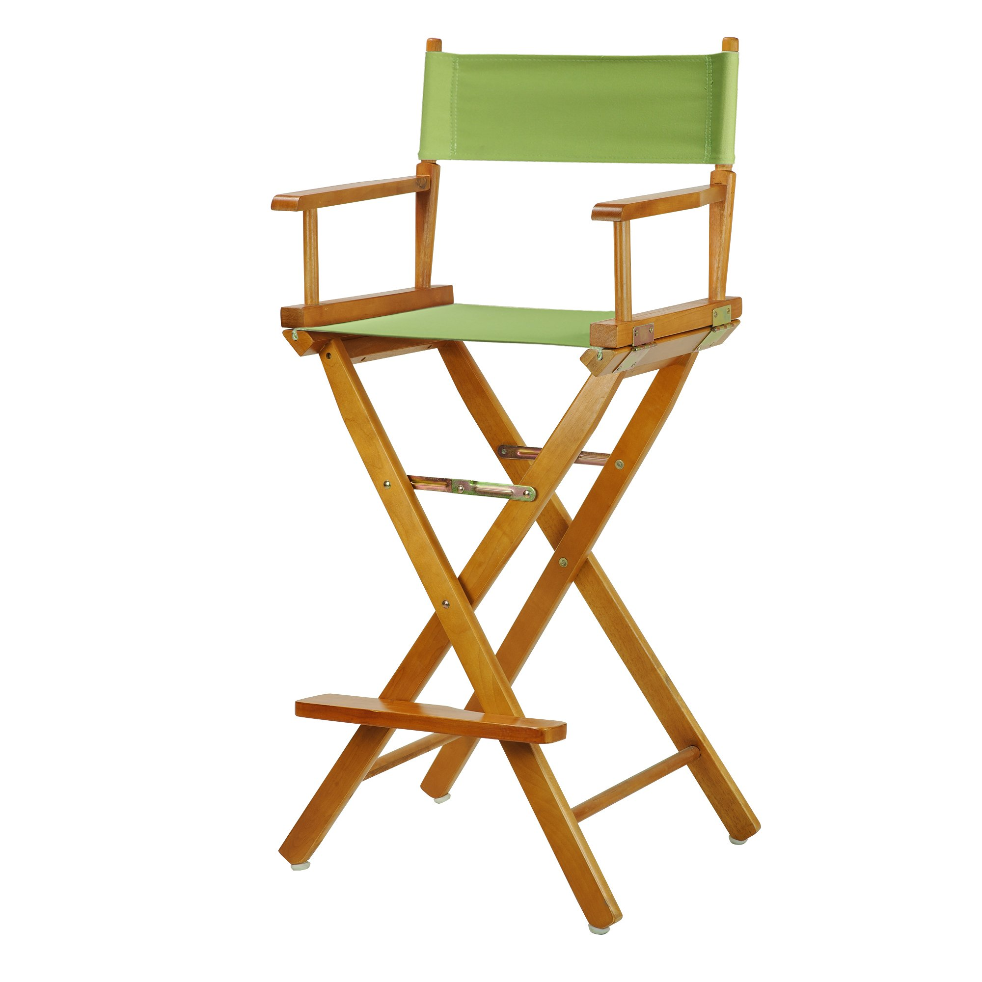 Casual Home 230-05/021-72 Director's Chair Honey Oak Frame Canvas, 30''-Bar Height, Lime Green