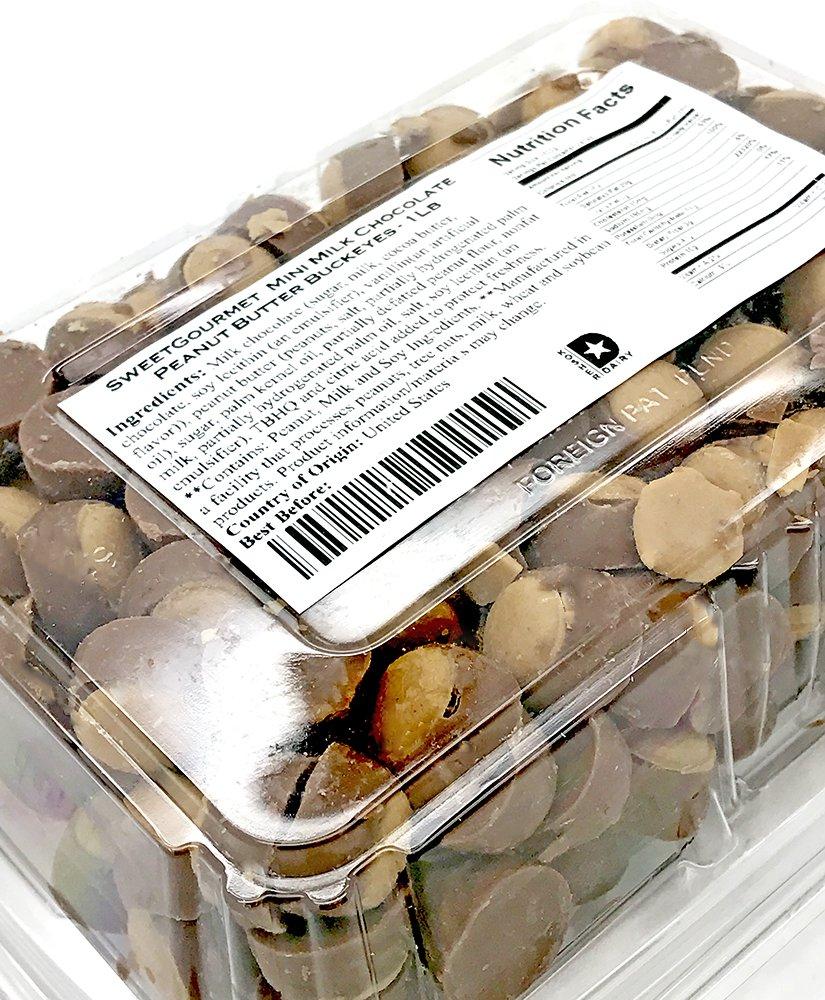 Amazon.com : Mini Dark Chocolate Peanut Butter Buckeyes - 1lb ...