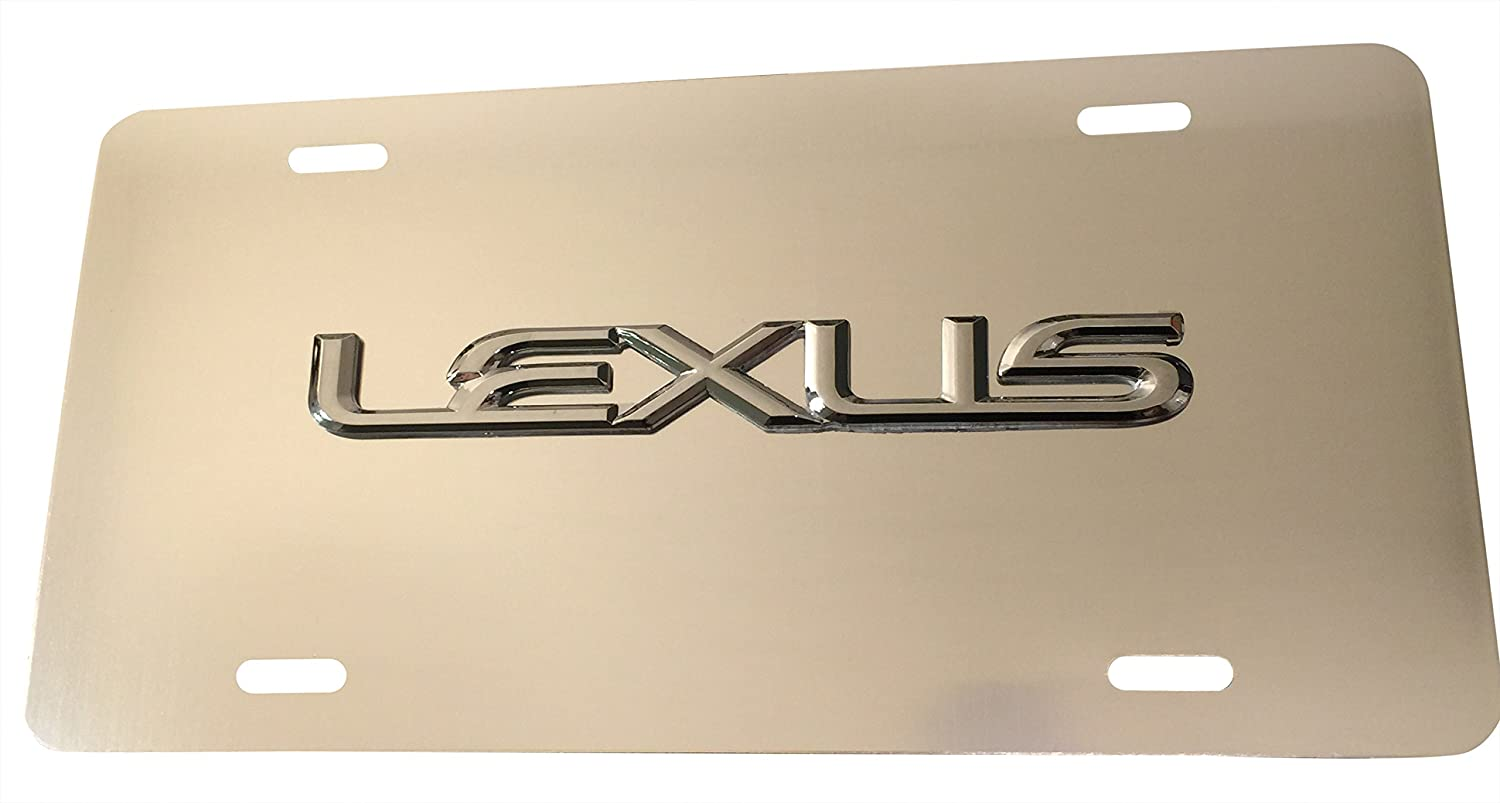 SILVER RX IX LS GS LX NX CT ES GX RC Custom Aluminum License Plate for Lexus