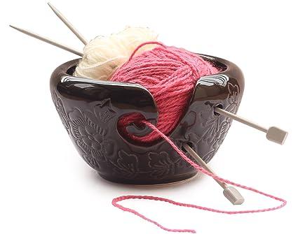 Amazon Com Today S Deals Ab Handicrafts Ceramic Black Yarn Bowl