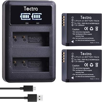 DMW-BLE9 Cargador de Batería para Panasonic Lumix DMC-ZS110 DMC-ZS200 DMC-TZ100 TX1