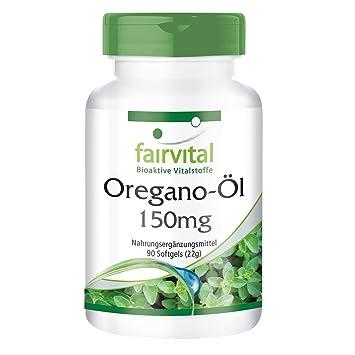 Aceite de Orégano 150mg - Origanum vulgare extracto - 90 Softgels - concentrado 10 veces - ¡Calidad Alemana garantizada!: Amazon.es: Salud y cuidado ...