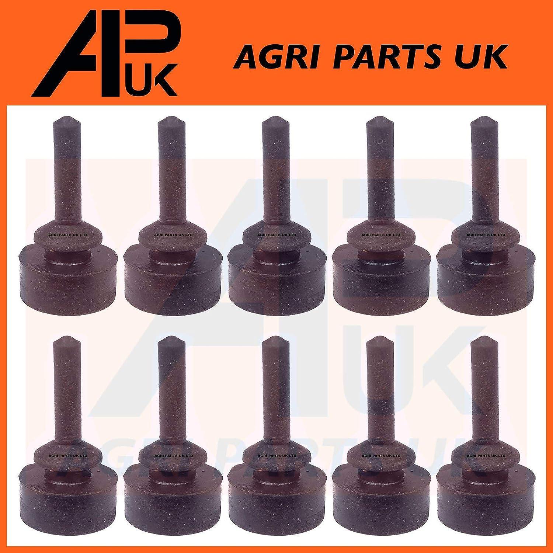 APUK 10x Massey Ferguson 152 165 175 178 Tractor Bonnet Panel Rubber Pad Grommet Bung Agri Parts UK Ltd