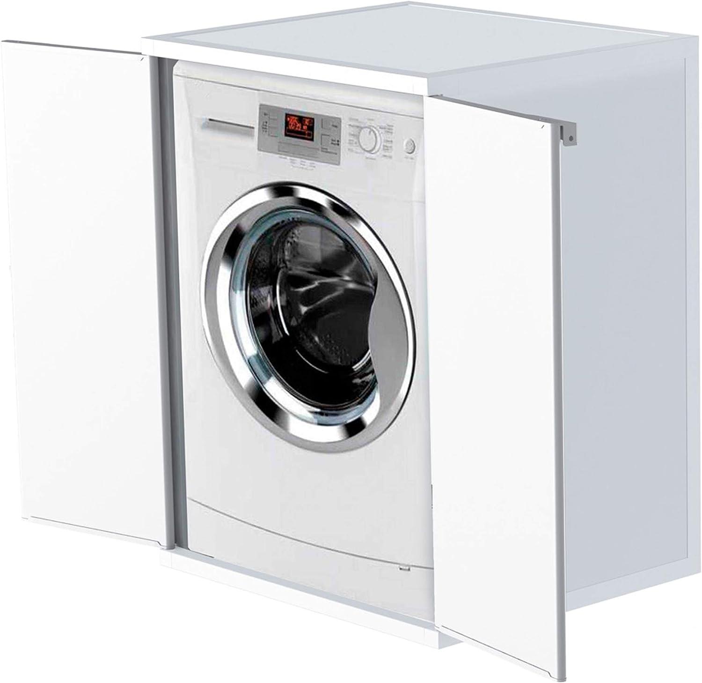 Adventa - Funda para Lavadora de Resina de PVC (Interior/Exterior), Color Blanco, 68,5 x 64,5 x 88 cm