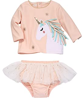 Mud Pie Kids Baby Girls Magical Unicorn Dreams Pink Cardigan Sweater