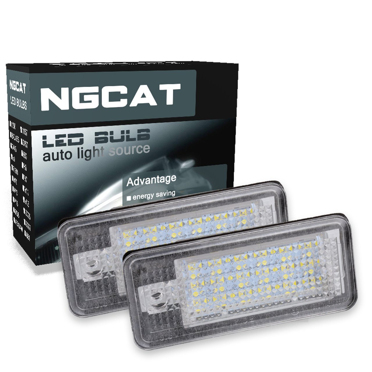 NGCAT 3528 24 SMD LED Bulb NO Canbus Error License Number Plate Light Lamps CanBus Free(Pack of 2)