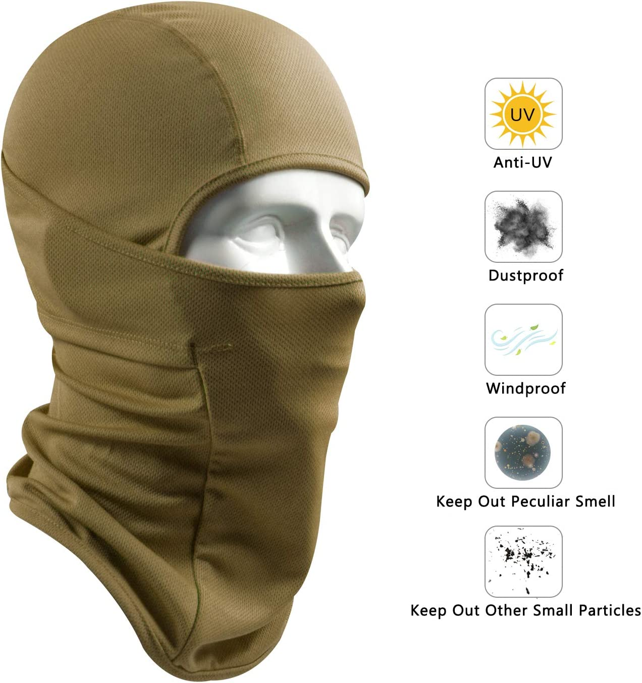 Balaclava Face Mask for Cold Weather Windproof Ski Mask for Men Women Winter Skiing Motorcycle Cycling