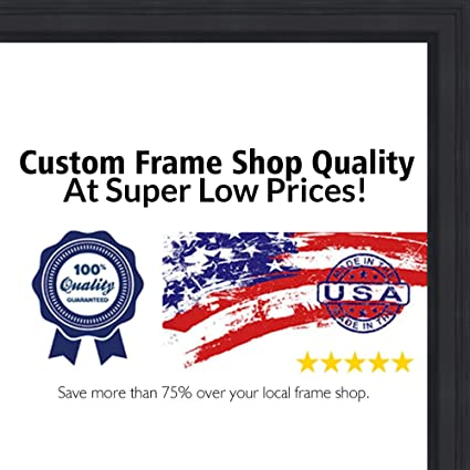 Amazon.com - 26x38 Traditional Black Wood Picture Frame - UV Acrylic ...