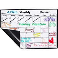 "Magnetic Dry Erase Monthly Calendar 2019-2010, 11.8"" x 16.7"" - Fridge Magnetic Calendar Whiteboard Organizer for Home Kitchen, Monthly Refrigerator Planning Calendar for Smart Planners - Planning is A Habit!"