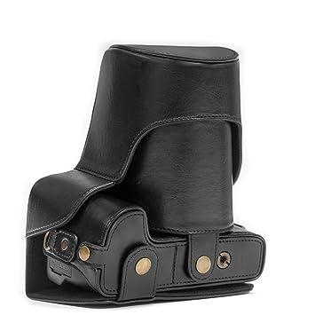 MegaGear Ever Ready – Funda de Piel Funda para cámara, Bolsa para Nikon Coolpix P900, Nikon Coolpix P900S cámara de Sistema Compacto (Color marrón ...