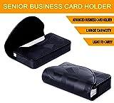 FYY Business Card Holder, Handmade Premium PU