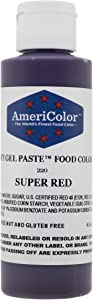 Americolor Soft Gel Paste Food Color, 4.5-Ounce, Super Red