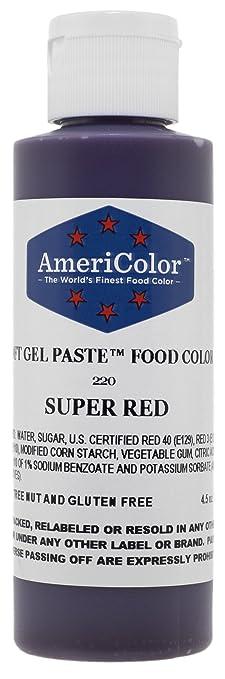 Amazon.com: Americolor Soft Gel Paste Food Color, 4.5-Ounce, Super ...