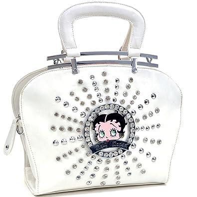 Amazon.com  Betty Boop Shoulder Bag Flat Bottom Design with Removable  Adjustable Shoulder Strap  Shoes 0d8c6fb12d596
