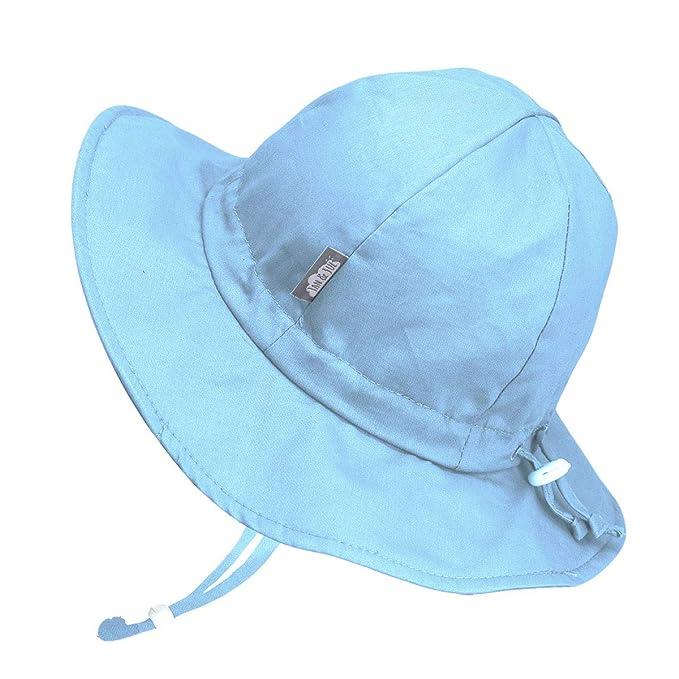 Jan   Jul Baby Toddler Kids Breathable Cotton Sun Hat 50 UPF ... 340c9bc060e