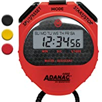 Marathon Adanac 4000 Digital Stopwatch Timer with Extra Large Display and Buttons, Water Resistant, One Year Warranty (Red, 1)