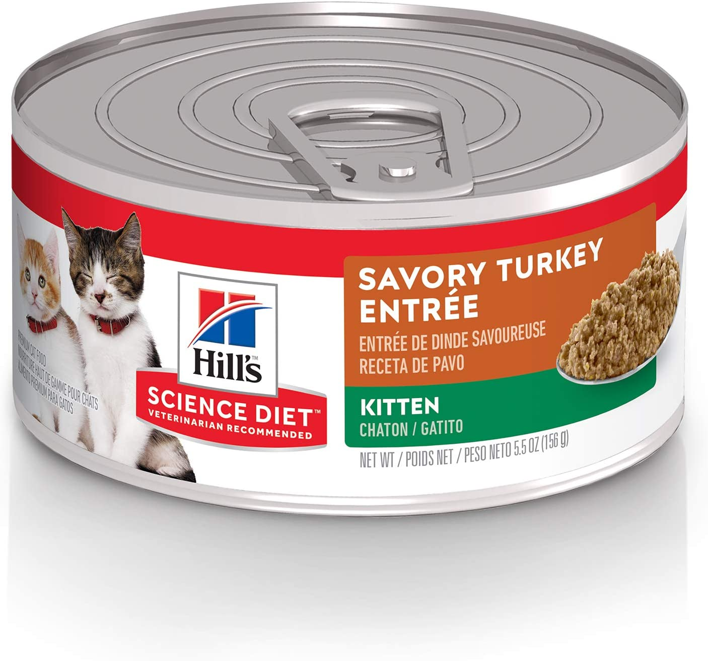 Hill's Science Diet Wet Cat Food, Kitten, Healthy Cuisine, Roasted Chicken & Rice Recipe