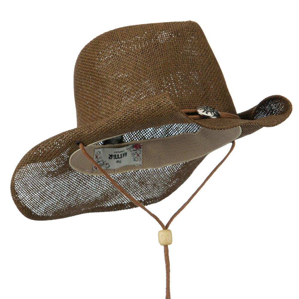 Moda Paja Sombrero Vaquero con cuerda para barbilla 63eb4db7a64