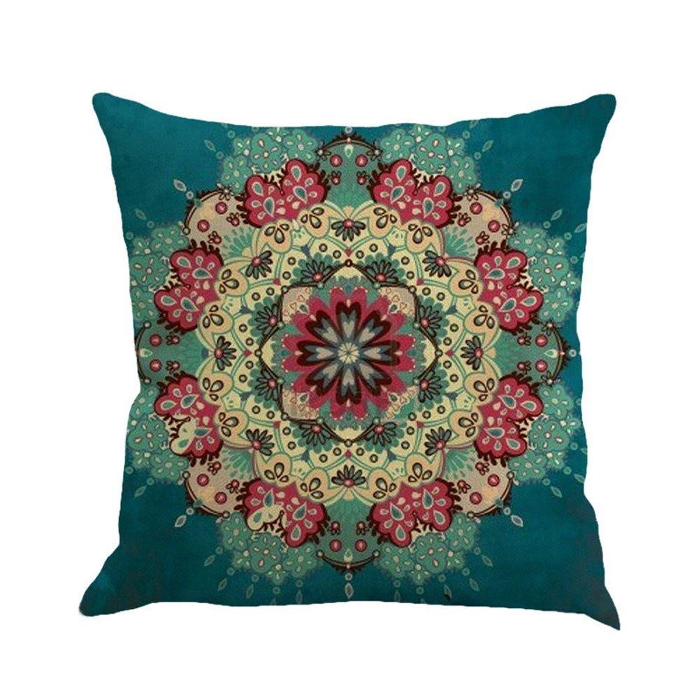Pgojuni Geometry Painting Linen Cushion Cover Throw Pillow Cover Cushion Cover Pillow Case for Sofa/Car/Bed 1pc (E)