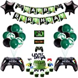 51 Pcs Video Game Party Supplies,Video Game Party Balloons Game Controller Balloons HAPPY BIRTHDAY Gaming Banner GAME ON Welc