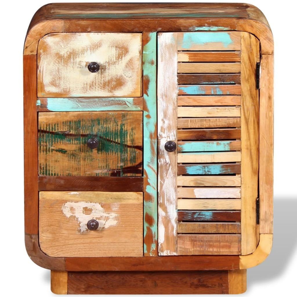 Festnight Reclaimed Wood Sideboard Cupboard Chest of Drawers Storage Cabinet