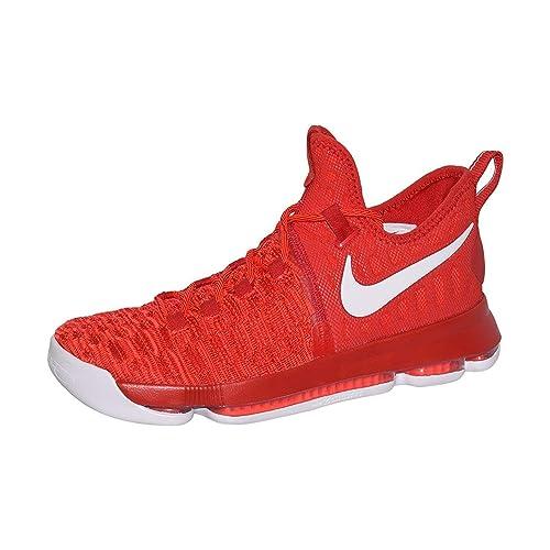 huge discount 427d3 c9de0 Nike Mens Zoom KD 9 Basketball Shoe (9.5, University Red/White)